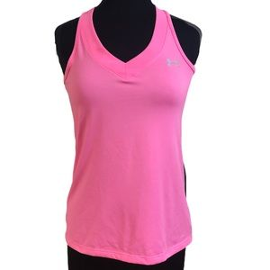 Under Armour Pink Heat Gear Tank Top Size M
